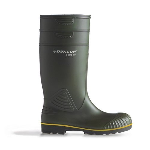 Dunlop B44063106 Acifort Heavy Duty Green Wellingtons Size 6