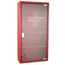 Homcom Wall Mounted  2 Keys Aid Box Lockable Glass Door