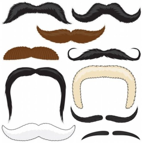 5c703d84a Brybelly Holdings MPAR-002 Mr. Moustachios Stachoos, 10 Temporary Tattoo  Mustaches on OnBuy