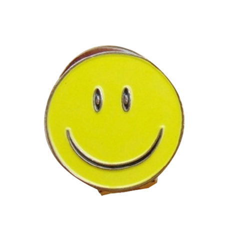 Golf Hat Clip Smile Pattern Cap Marker