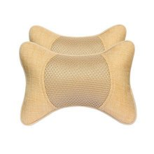 1Pair Car Head Support Pillow Seat Neck Rest Pillow Headrest Neck Pillow-Beige