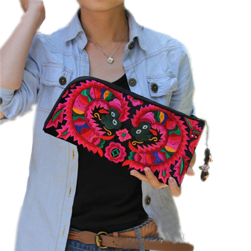 Totem Embroidery Needlecrafts Handmade Embroidery, Handbag / Shoulder Bag(A)