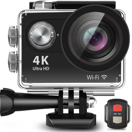 "4K Sport Action Camera Ultra HD Camcorder 12 MP WIFI Anti-Shake Waterproof DV Cam 2.4 G Remote control 2.0""Display 170° Wide Lens 2 Rechargeable..."