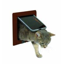 Trixie 38623 4-way Cat Flap Brown - 4way 21 -  trixie brown 38623 4way cat flap 21