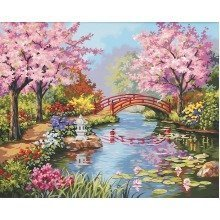 Dpw91415 - Paintsworks Paint by Numbers - Japanese Garden