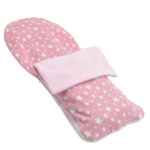 Snuggle Summer Footmuff Compatible With Chicco Trio living - Light Pink Star