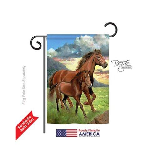 Breeze Decor 60066 Farm Animals Americana Horse 2-Sided Impression Garden Flag - 13 x 18.5 in.