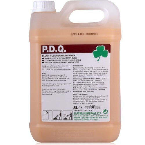 Clover PDQ 5Ltr Wax Floor Cleaner Maintainer Vinyl Laminate Marble