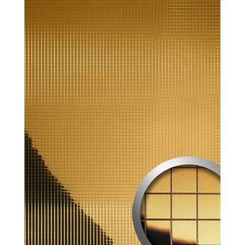 WallFace 10581 M-STYLE Wall panel wall deco metallized mirror gold | 0.96 sqm