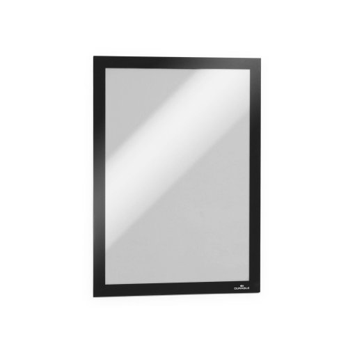 Durable 487201 DURAFRAME A4 Self-Adhesive Magnetic Frame Signage and Information Display - Pack of 2