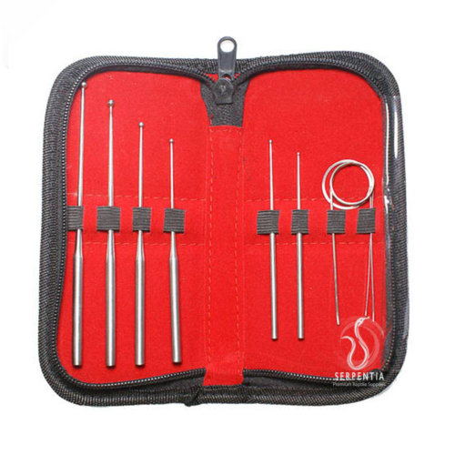 Serpentia Snake Sexing Probes 9 Piece Professional Set in Zip Up Case