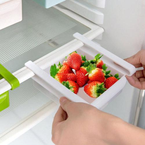 Kitchen Fridge Space Saver Storage Slide Under Shelf Rack Organizer Holder Box