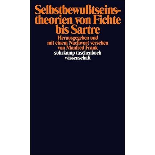 Selbstbewußtseinstheorien von Fichte bis Sartre.