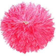2 of Pink Team Sports Cheerleading Poms Match Pom Plastic Ring