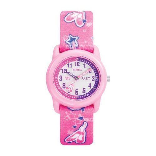 Timex 6518120 Wrist Watch Girl Round Analog Nylon Water Resistant - Pink