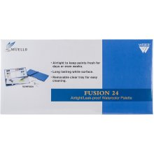 Airtight Watercolor Palette-Blue - 24 Cavity