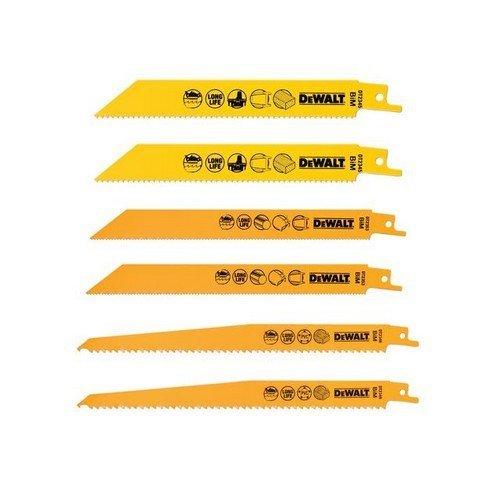 DEWALT DT2444-QZ DT2444 Reciprocating Saw Blade Set 6 Piece
