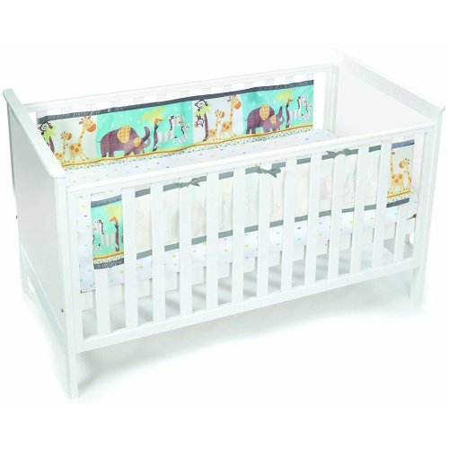 (Animal 2 By 2) BreathableBaby Printed Cot Liner | 2-Sided Cot Bumper