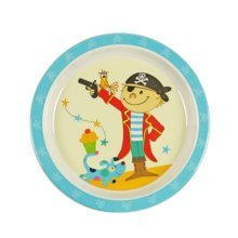 3 Pieces Of Fashion Cartoon Red Pirate Pattern Drop Resistance Plate