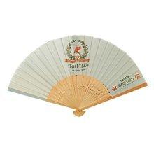 Creative Country Style Folding Fan Summer Fan Light Blue