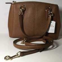 Coach Mini Christie Carryall in Saddle Brown