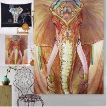 Elephant Indian Mandala Beach Towel Wall Hanging Tapestry Bohemian Throw Mat Dorm Cover