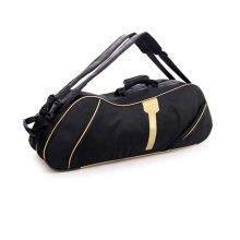 2 Shoulder Straps Waterproof And Dustproof Racket Bag 6 Racquet Bag,Gold