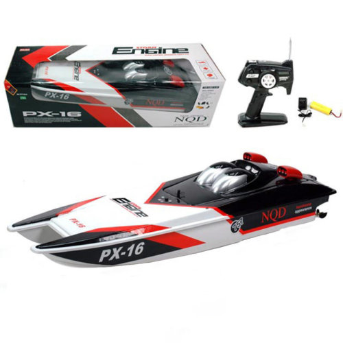 NQD 2.4GHZ 1:16 Radio Control RC Storm Twin Motor PX-16 RC Speed Boat