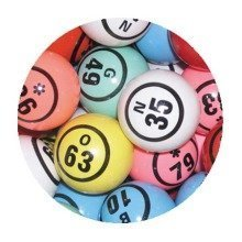 Set of 90 Numbered Bingo Balls - 38mm