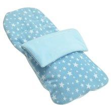 Snuggle Summer Footmuff Compatible With Peg Perego Pliko P3 - Light Blue Star