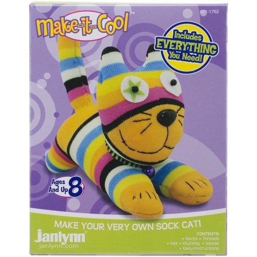 Janlynn Sock Animal Kit-Claire The Cat