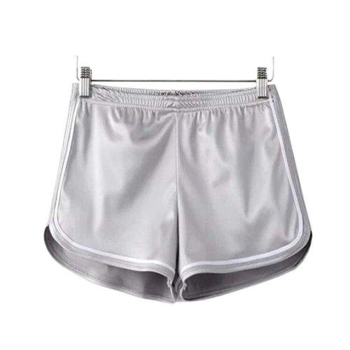 Women's Hot Gym Sport Shorts Shiny Metallic Pants, #A 6