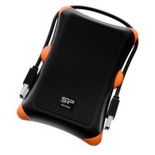 Silicon Power 2.5 inch 1TB USB 3.0 SP Rugged Armor A30 Shockproof External Portable Hard Drive - Black