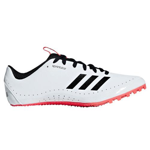 adidas Sprintstar Womens Running Spike Trainer Shoe White/Black/Red
