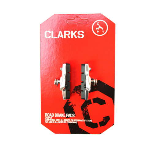 Clarks Road Brake Pads Fits All Major Road Brake Systems, 52mm - Pair 55mm -  clarks pair 55mm road caliper brake pads holder bike cycle bicycle shoes