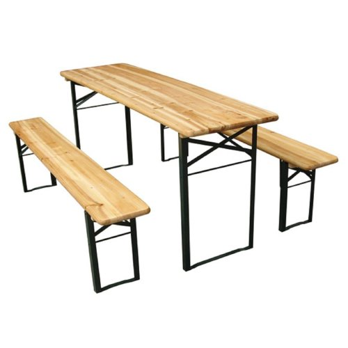 Outsunny Foldable Picnic Table & Benches   Folding Outdoor Dining Set