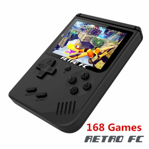Handheld Game Console, 3 Inch 168 Classic Games Retro FC Game Console,Entertainment System Video Game Console, Birthday Present for Children