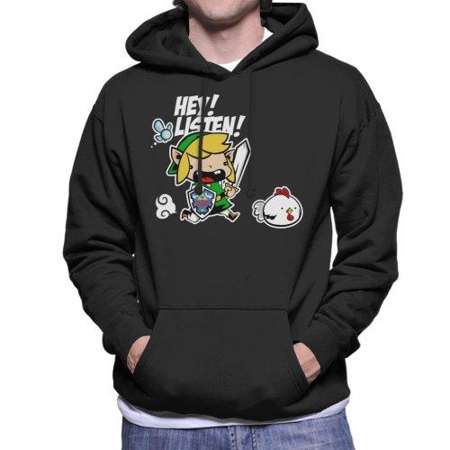 Hey Listen Cute Link Legend Of Zelda Men's Hooded Sweatshirt
