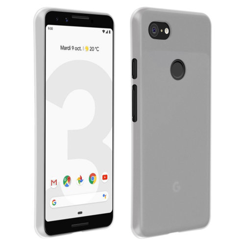 new concept 89f06 a661d Silicone case Glossy & matte back cover for Google Pixel 3 - White