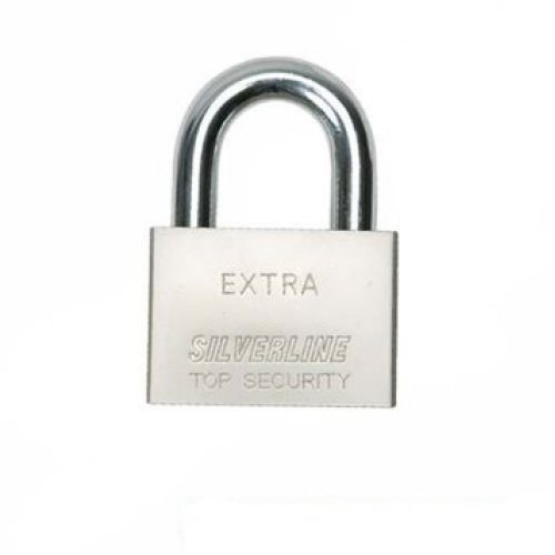 70mm Silverline Steel Padlock - 291405 -  silverline steel padlock 70mm 291405
