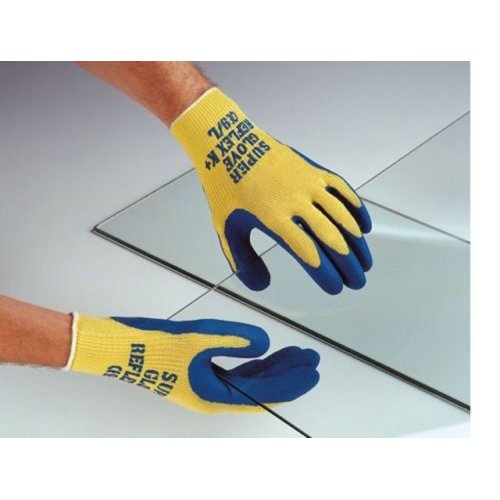 Polyco Reflex K Plus Cut Resistant Glove Kevlar/Latex Work Gloves 8 Med