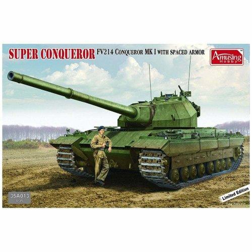 1:35 Super Conqueror Tank 35A013 (bonus Resin British Tank Crew Figure) Military Model Kit