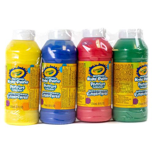 Crayola Washable Ready Mix Paint (Pack of 4)