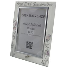 Proud Great Grandmother Photo Frame Portrait (Sweet Pea)