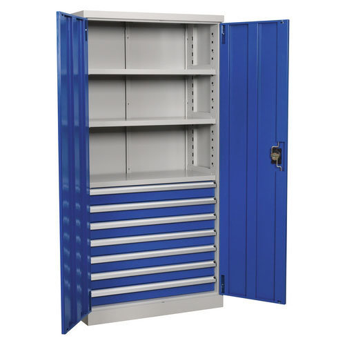 Sealey APICCOMBO7 1800mm Industrial Cabinet 7 Drawer 3 Shelf