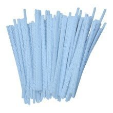 50 White Pipe Cleaners 30cm x 6mm