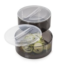 Tower T80417 Health Set of 2 Bowls with Lids for Spudnik Spiralizer