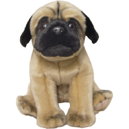 "Soft and Cuddly toy 12"" Fawn Pug"