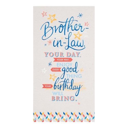 Hallmark Brother In Law Birthday Card Enjoy