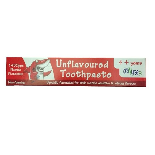 Oranurse Unflavoured Toothpaste 50ml 4+ Years
